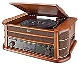 Dual NR 50 DAB Stereo-Nostalgie-Komplettanlage mit Plattenspieler (UKW/DAB(+) Radio, CD (MP3), USB,...