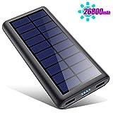 HETP Solar Powerbank 26800mAh, 【2020 Neuestes Solarladegerät 】 Externer Akku Tragbares...