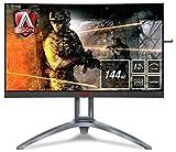 AOC AGON AG273QCX 68 cm (27 Zoll) Curved Monitor (HDMI, DisplayPort, USB Hub, Free-Sync2, 1ms...