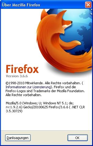 Firefox Version 3.6.6