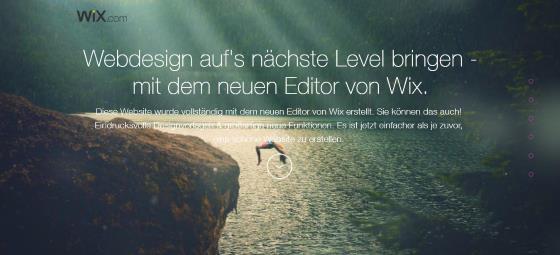 Screenshot Wix.com Editor