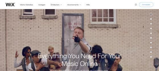 Mit WixMusic zur eigenen Musikwebseite