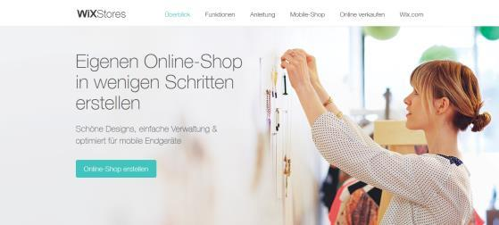 Mit Wix.com Onlineshop erstellen