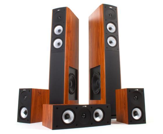 Jamo S 626 HCS 5.0 Heimkinosystem Lautsprecher offen und sichtbar