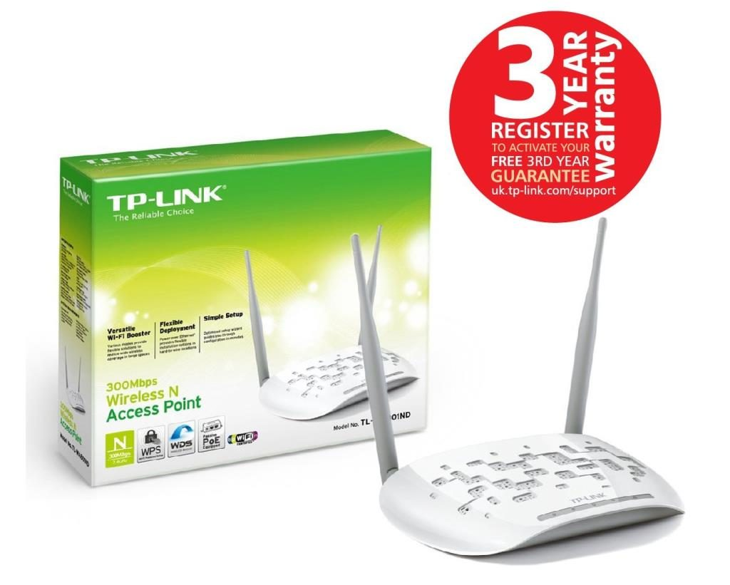 TP-Link TL-WA801ND WLAN Access Point 300Mbit/s WLAN-Repeater