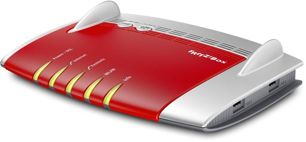 AVM FRITZ!Box 7490 AC + N WLAN Router (VDSL/ADSL, 1.300 Mbit/s (5 GHz), 450 Mbit/s (2,4 GHz), DECT-Basis, Media Server)