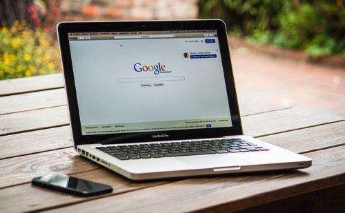 Google auf einem Mac