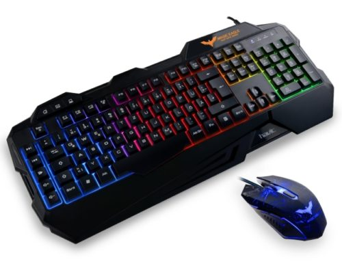 HAVIT Gaming Tastatur und Maus Set Beleuchtete Gaming Tastaturen