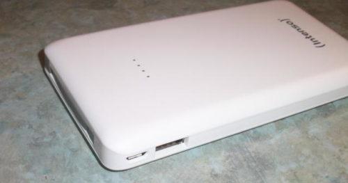Intenso Powerbank S10000 USB-Anschlüsse seitlich
