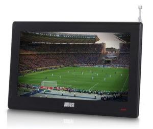 "August DA100D – 10"" Tragbarer HD TV DVB-T2 MPEG4 H.264/H.265/HEVC – LCD Fernseher"