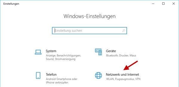 Fenster mit Windows Einstellungen Detail