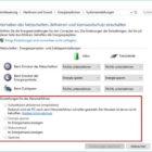 Schnellstart ausschalten bei Windows 10