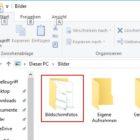 Screenshot erstellen Ordner Bildschirmfotos