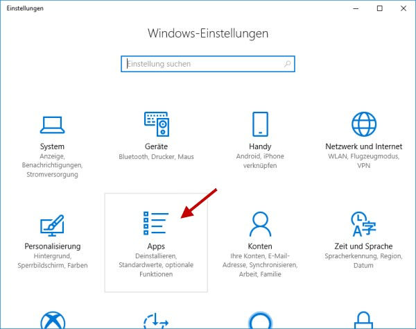 Windows Media Player deinstallieren Apps öffnen
