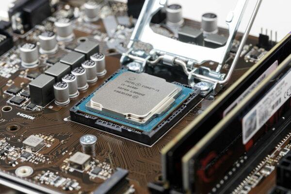 Cpu Prozessor Chip auf dem Mainboard
