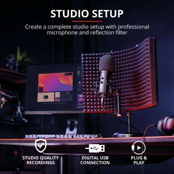 GXT 259 Rudox Studio Mikrofon mit Refexionsfilter