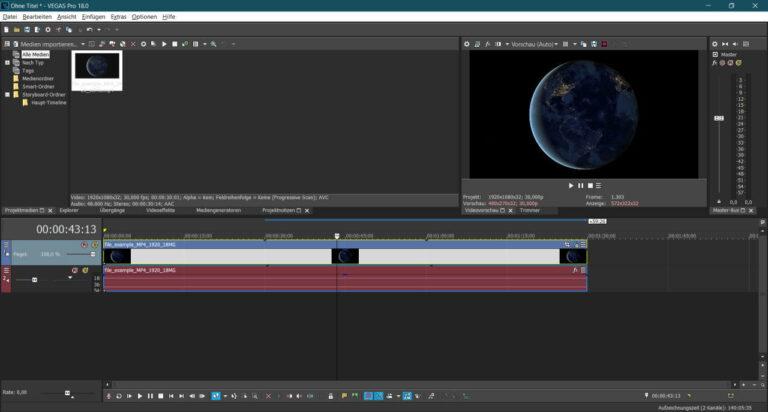 VEGAS PRO 18 Videobearbeitung