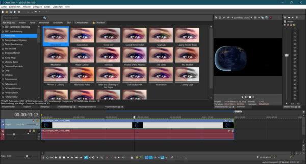 Videoeffekte mit VEGAS PRO 18
